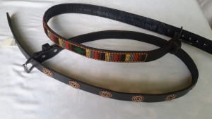 Belt with Masaai Beads
