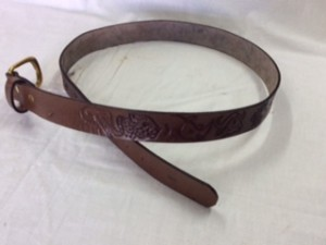 Belt with Embossed Animal Art Work