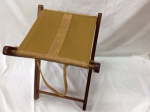 Camping Stool Canvas & Leather