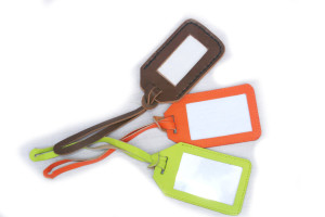 Luggage Tags Assorted Leather Colours
