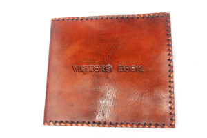 Visitor Leather Book Cover