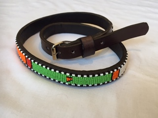 kids Belt with Masaai Beads